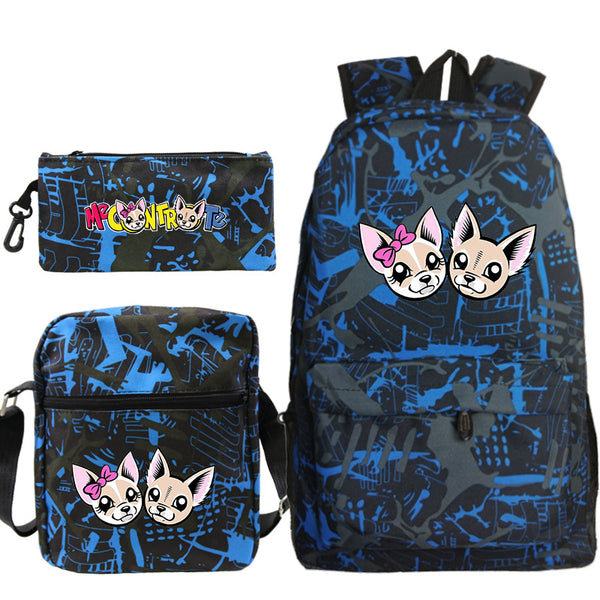 Casual Me contro Te School Backpack For Boys Girls Three-piece Set