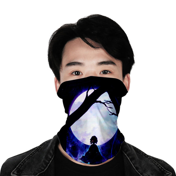 Demon Slayer 3D turban uv face shield head custom bandana scarf kerchief