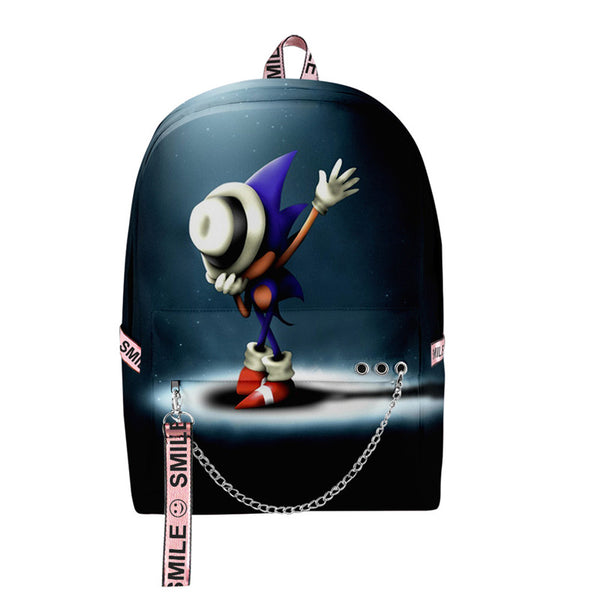 Casual Stylish Cool 3D Sonic the Hedgehog School Book Bag Printing Backpacks for Girls