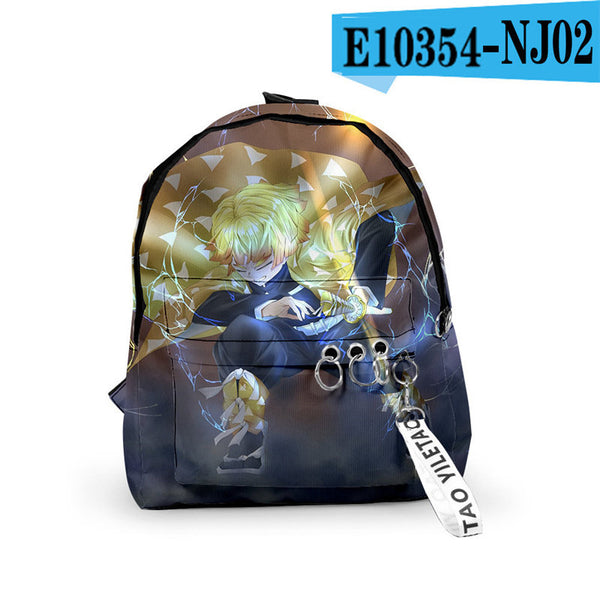 Fashion Demon Slyaer 3D Cool Guimie Printed School Backpack  for Kids Girls Boys