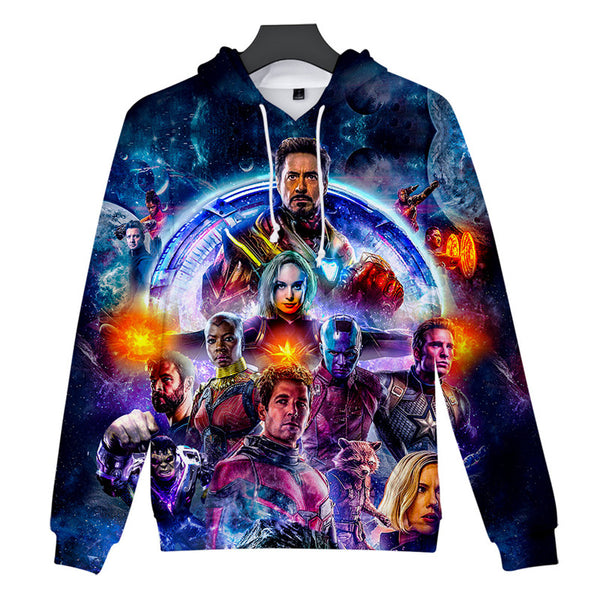 Avenger Cosplay Hooded Sweatshirt Superhero Clothing Unisex Adult - firstcorset