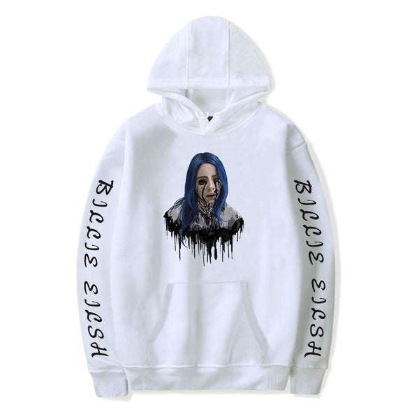 Billie Eilish Long Sleeve Hoodie Coats Casual Unisex Couple Clothes - firstcorset