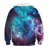 2019 Spring Autumn Boys Girls Hoodies Space Galaxy 3D Print Sweatshirt Kids Tops Casual Children Loose Hoody Tracksuit - firstcorset