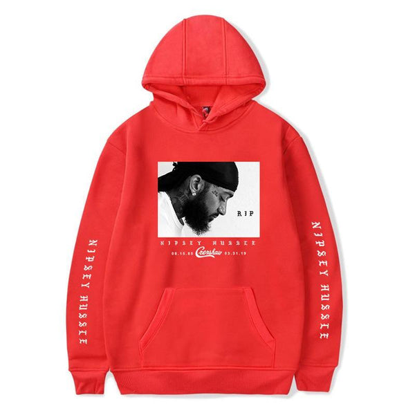 Rip Nipsey Hussle Illustration Sweatshirt Hoodie Crershaw - firstcorset
