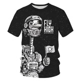 Adult Space Duck Fly High We're on A Mission T-shirt
