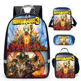 Borderlands 3 Backpack School Bag Shoulder Bag Lunch Bag Pencil Bag