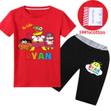 Ryan Toys Review Cotton T-Shirt and Shorts  Kids Summer Outfits