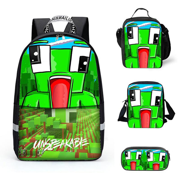 Kids Backpack for School Book Bag Lunch Bag Shoulder Bag Pencil Bag 4Pcs