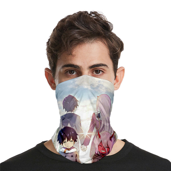 DARLING in the FRANXX 3D turban uv face shield head custom bandana scarf kerchief