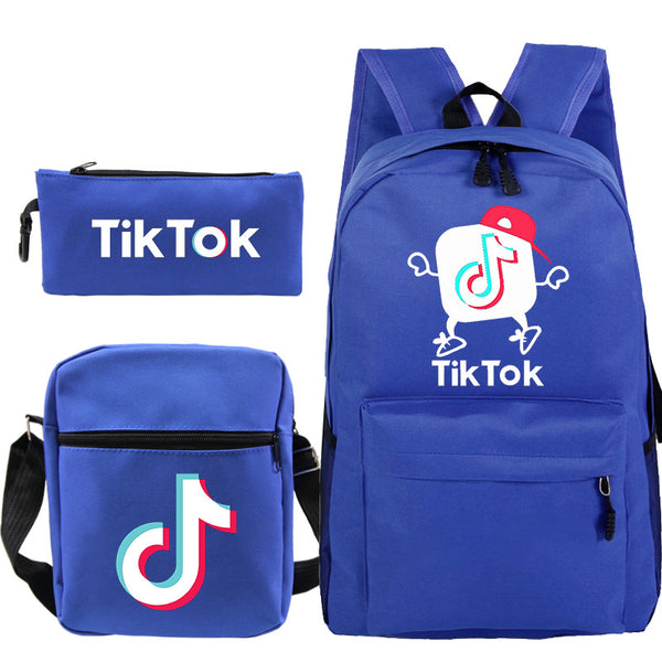 Tik Tok Teens Backpack for School Boys Girls School Bookbag Set Travel Daypack