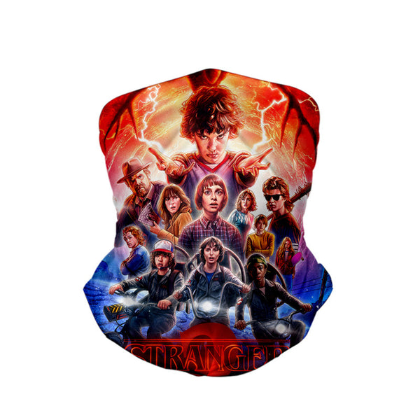 Stranger things  3D turban uv face shield head custom bandana scarf kerchief