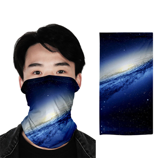 Galaxy 3D turban uv face shield head custom bandana scarf kerchief