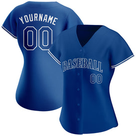Custom Royal Royal-White Authentic Baseball Jersey