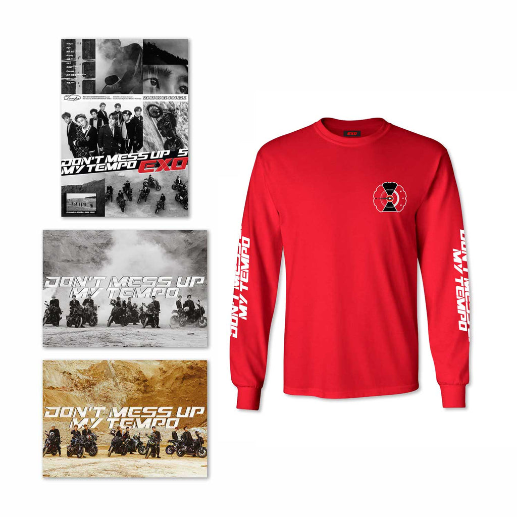 Bundle E: 1 Album Selection + Tempo Red Long Sleeve Shirt