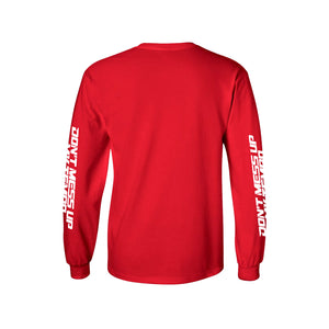 EXO Don't Mess Up My Tempo Red Long Sleeve Shirt