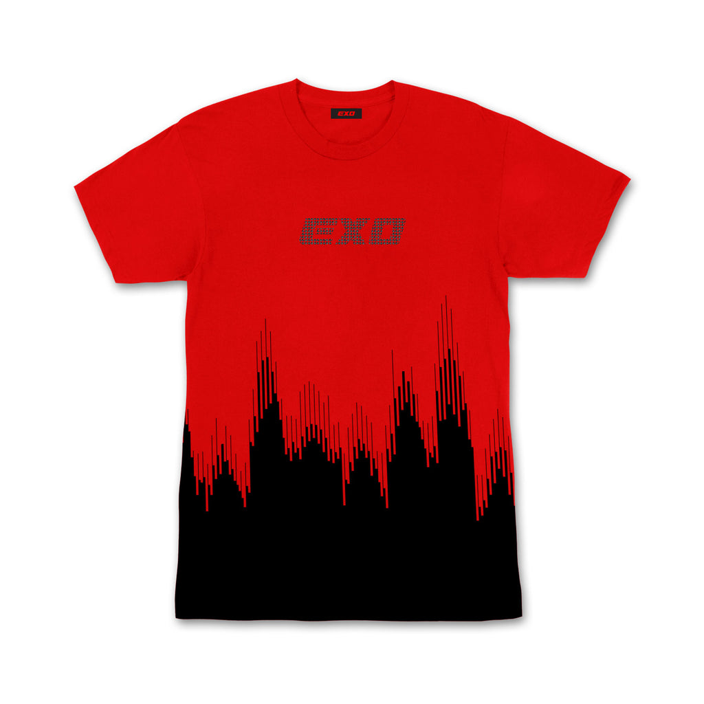 EXO Don't Mess Up My Tempo Rhinestone Red T-Shirt