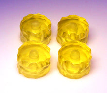 Load image into Gallery viewer, Haramis Musical Hardware Rock Knobs - transparent yello
