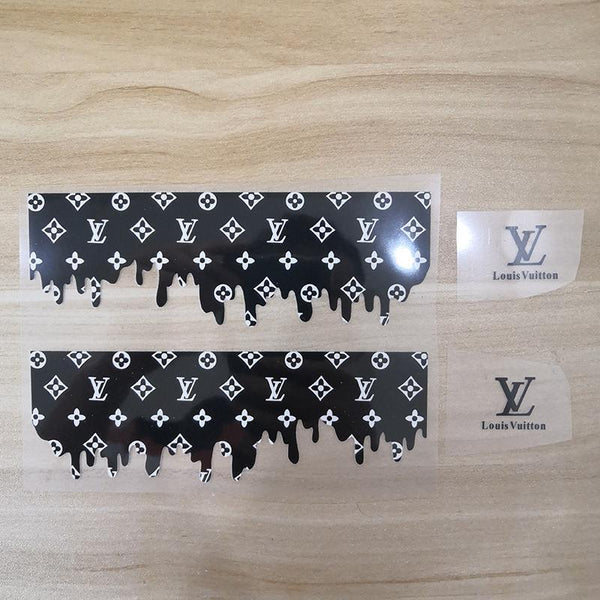 LV Custom Iron On Shoe Decal