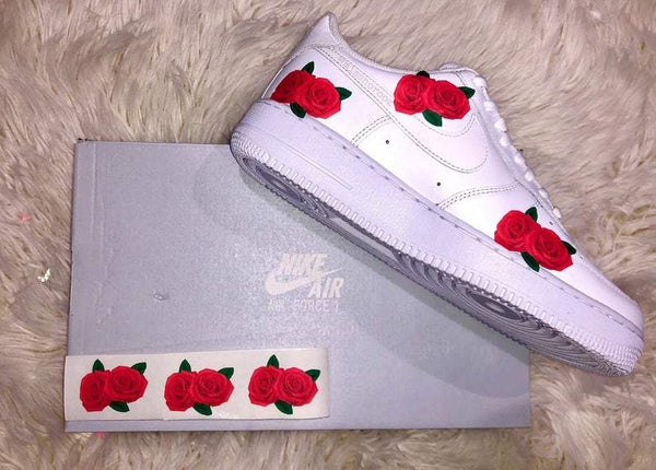 Red Roses Ion On Shoe Decal