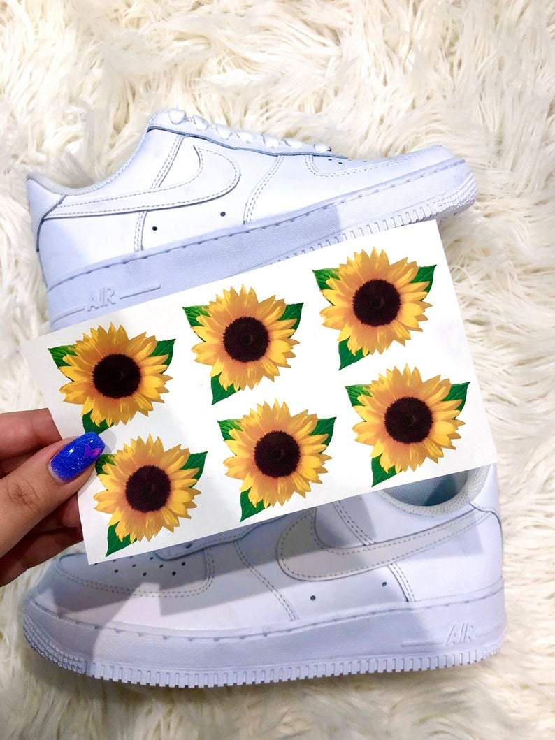 Yellow Sunflower Iron On Shoe Decal