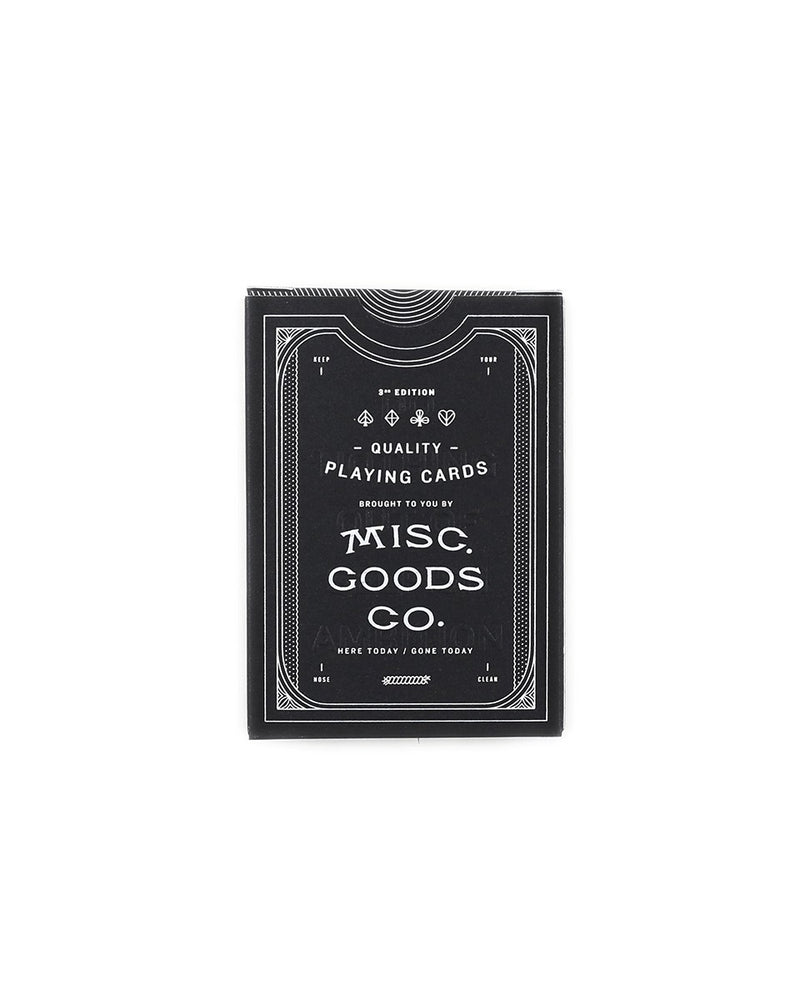 Misc. Goods Co. Playing Cards Black