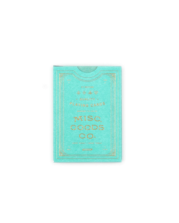 Misc. Goods Co. Playing Cards Turquoise