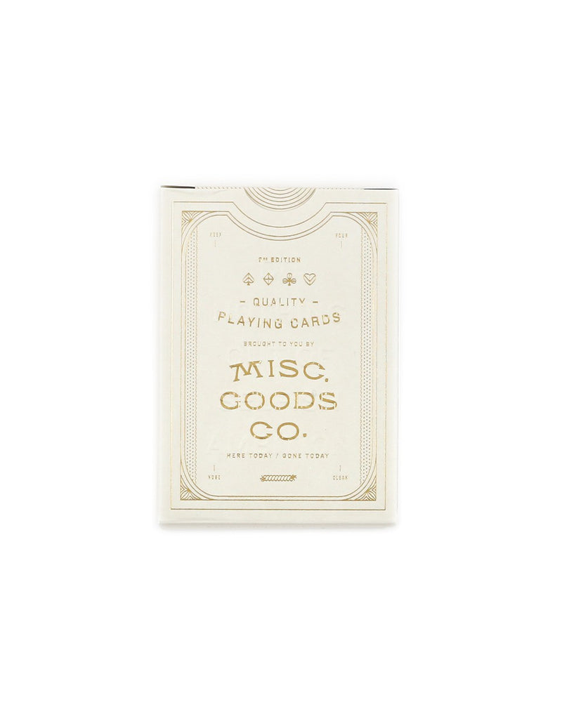 Misc. Goods Co. Playing Cards White