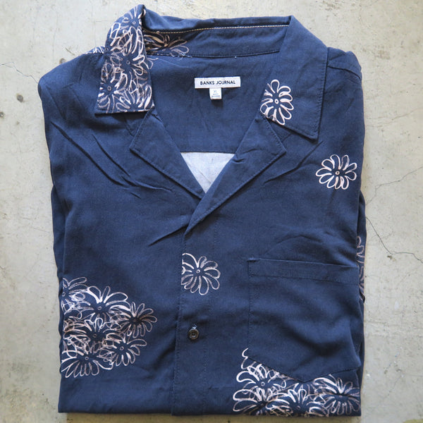 Banks Navy Floral Button Down