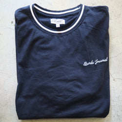 Banks Black Tee with White Collar