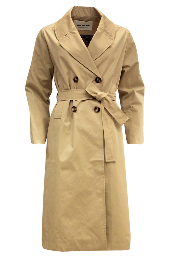 CARNATION BELTED TRENCH COAT