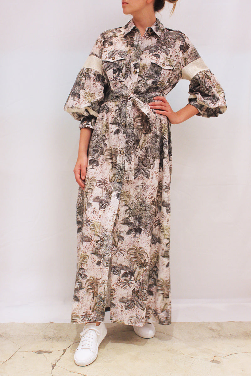 FOXGLOVE TOILE LONG DRESS