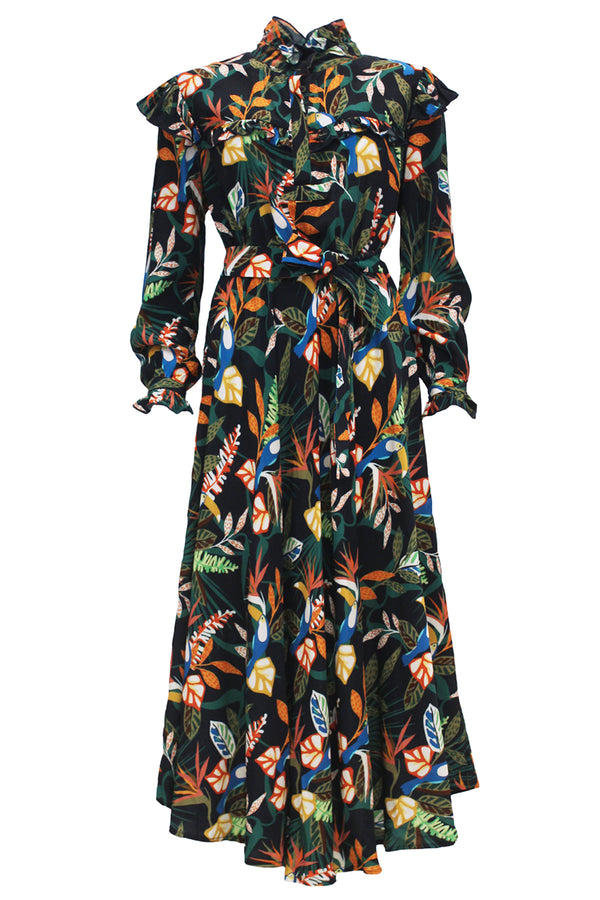 MONOI PRINT LONG DRESS