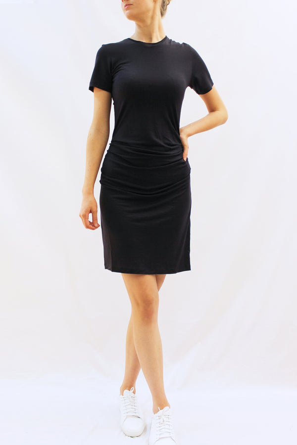 CORTIA GATHERED JERSEY DRESS