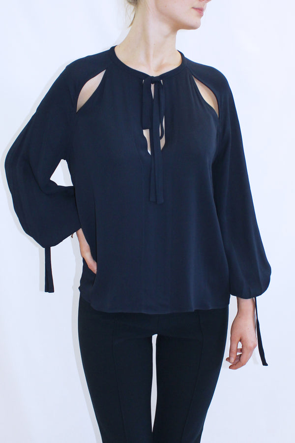 HENRYA CUT OUT SHIRT MIDNIGHT