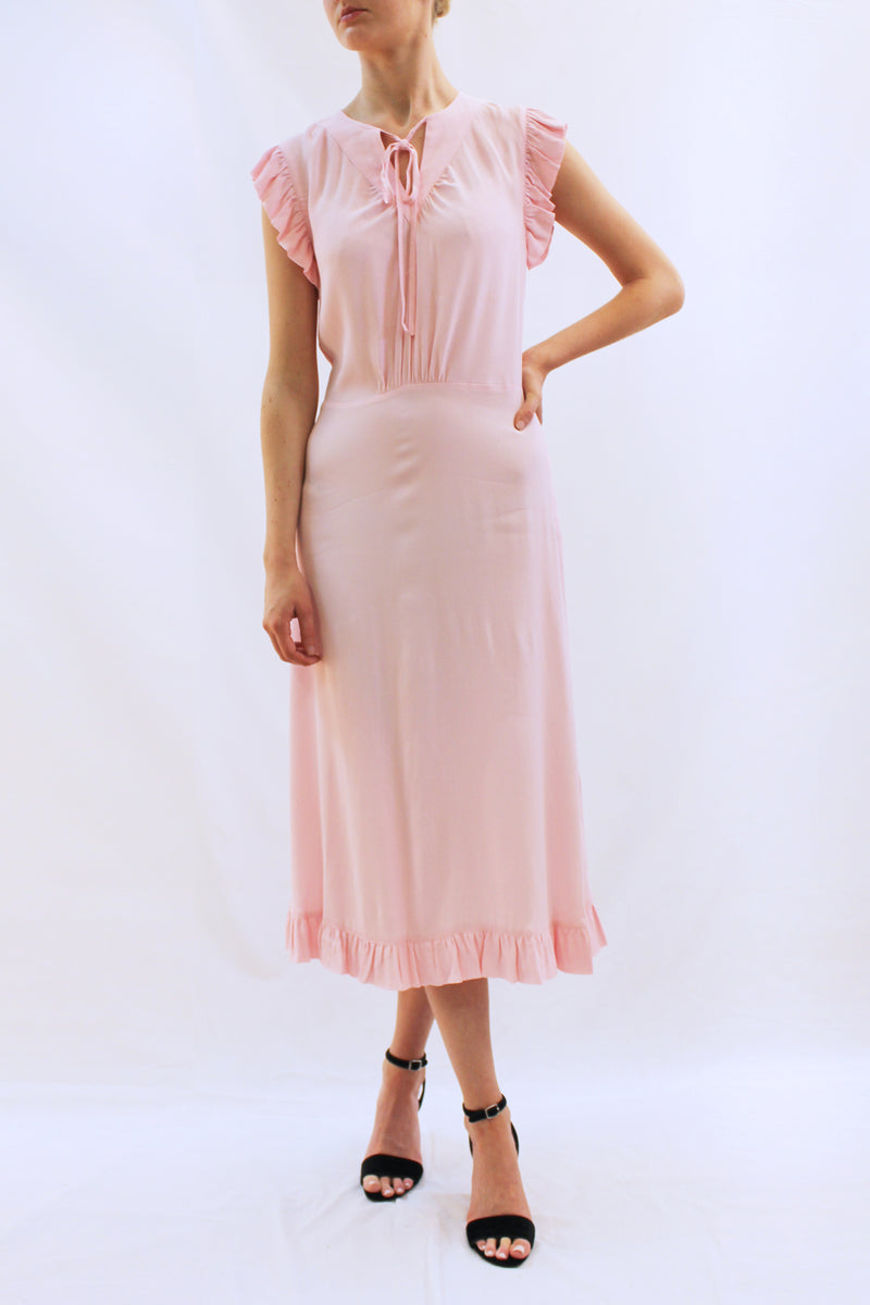 SPAINE DRESS PALE PINK
