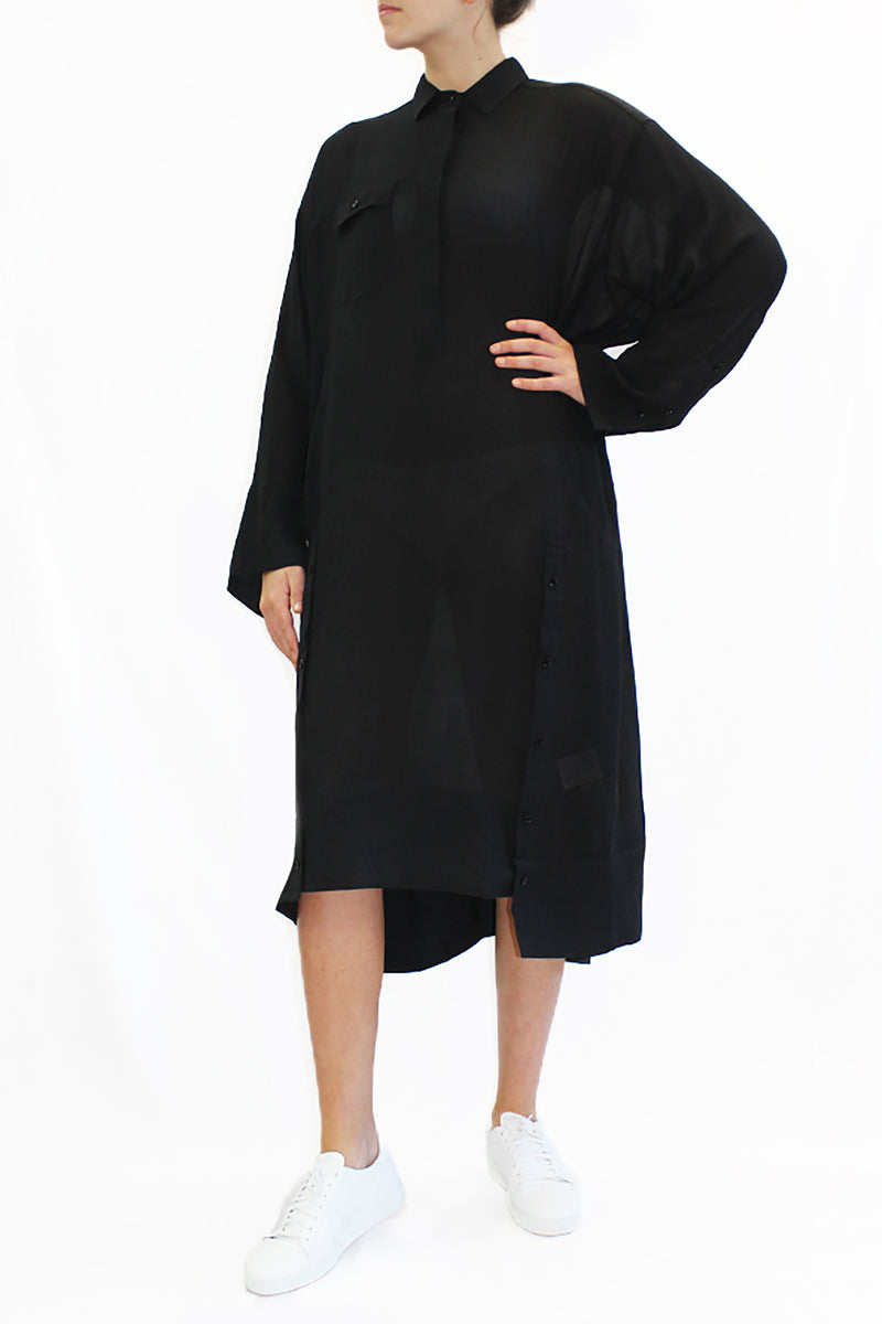 MEUM BLACK TUNIC DRESS