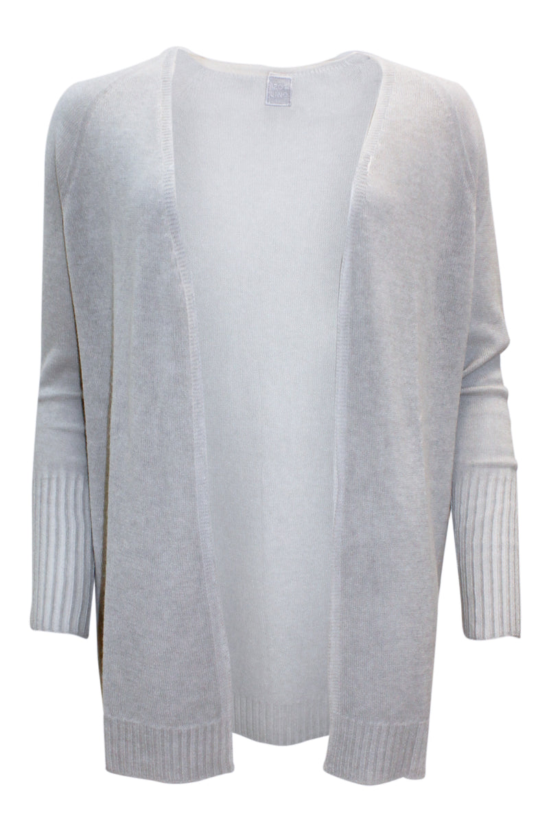 LONG CASHMERE CARDIGAN DOVE