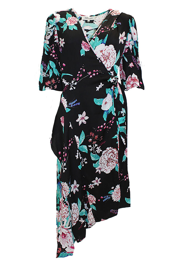 AUDRINA FLORAL WRAP DRESS