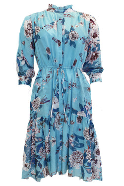 DAVEY LONG SLEEVE FLORAL DRESS