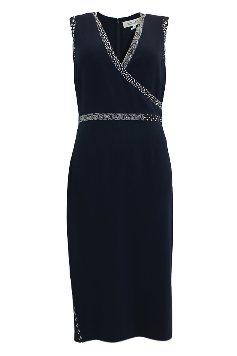 ANISSA MIDI NAVY DRESS