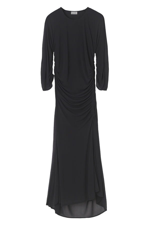 JESSAMINE ROUCHED JERSEY DRESS