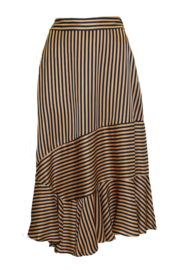 MEXICO STRIPE ASYMMETRIC SKIRT
