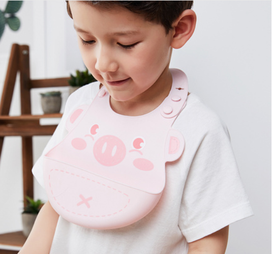 Baby silicone bib rice pocket