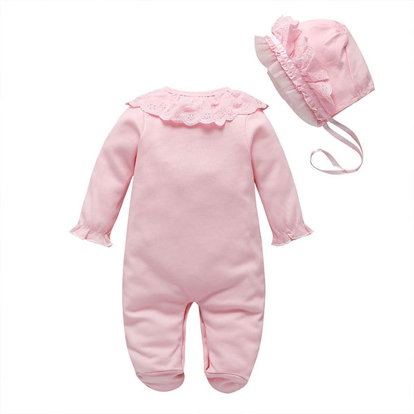 Baby foot cover jumpsuit