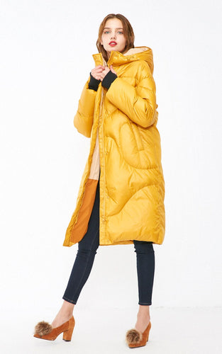 White duck down oversized down jacket