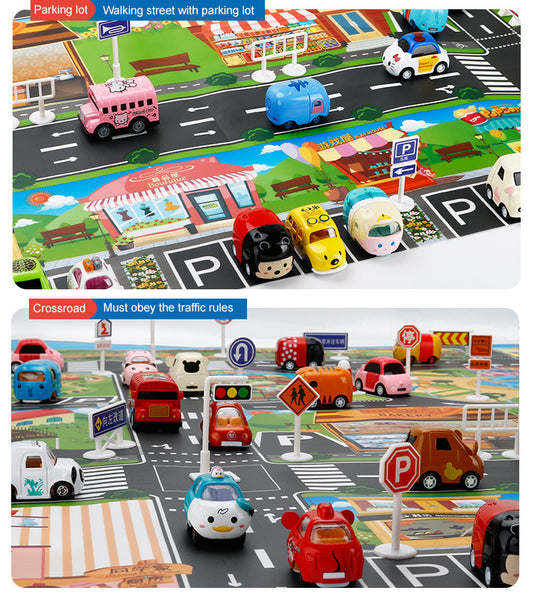 City map car toy model