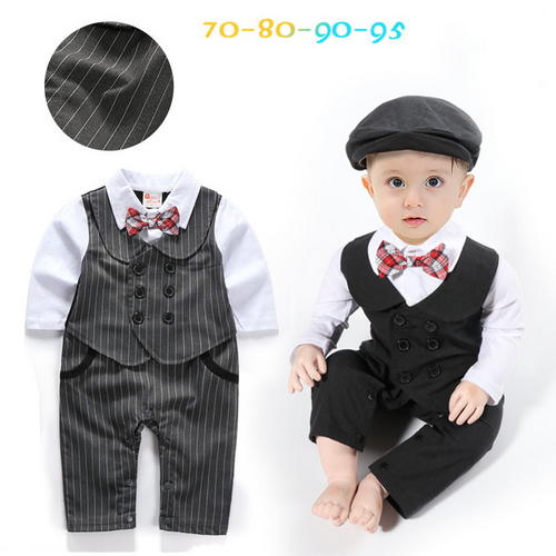 Children Clothing Cow Gentleman Baby Boys Suits