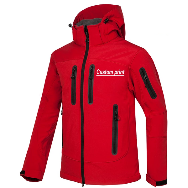Pocket waterproof Jacket Men winter