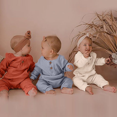 Newborn baby pocket long sleeve jumpsuit
