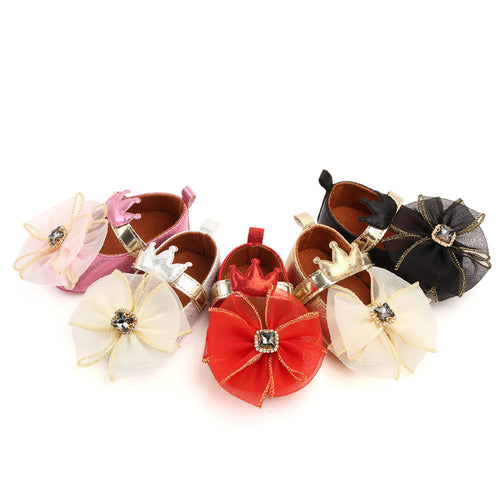 Baby Adorable Bowknot Crown Decorative Shoes